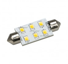 Автолампа ARL-F42-6E Warm White (10-30V, 6 LED 2835) (ANR, Открытый)
